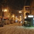 初積雪の夜